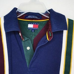 Tommy Hilfiger Shirts - Tommy Himfoger Vintage 90's Striped Polo